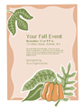 Fall Event Flyer (with Pumpkin)