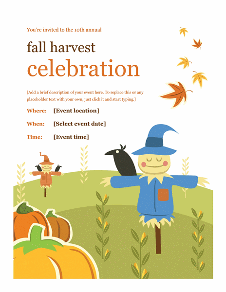 Fall Flyer Design Ideas Template Word
