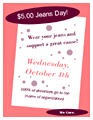 Jeans Day Fundraiser Poster (works With...