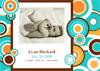 Photo Birth Announcement Cards (circles...