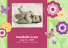 Photo Birth Announcement Cards (flowers...