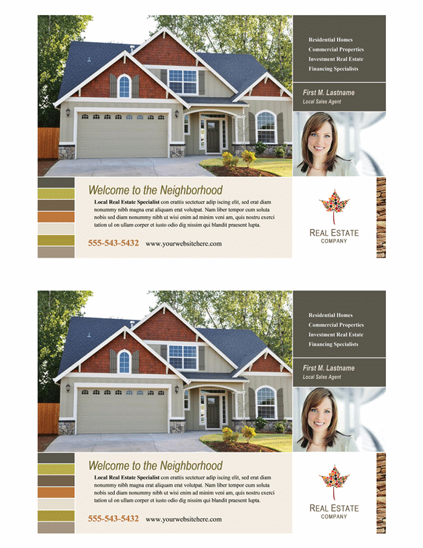 download real estate flyer half page free flyer templates for microsoft office. Black Bedroom Furniture Sets. Home Design Ideas