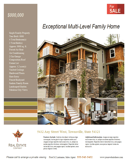 Download Real Estate Flyer New Listing Free Flyer Templates For
