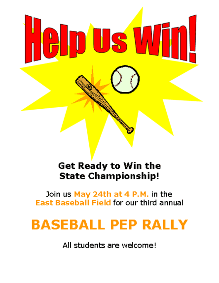Sports Pep Rally Poster