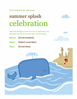 Summer Event Flyer Template Word Examples