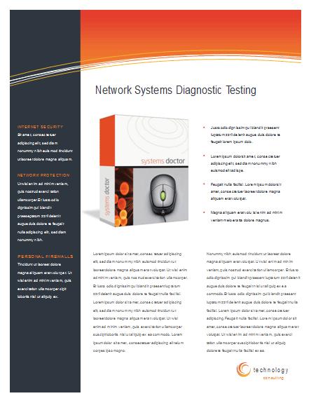 8 5 x 11 brochure template - download technology business datasheet 2 pg 8 5 x 11