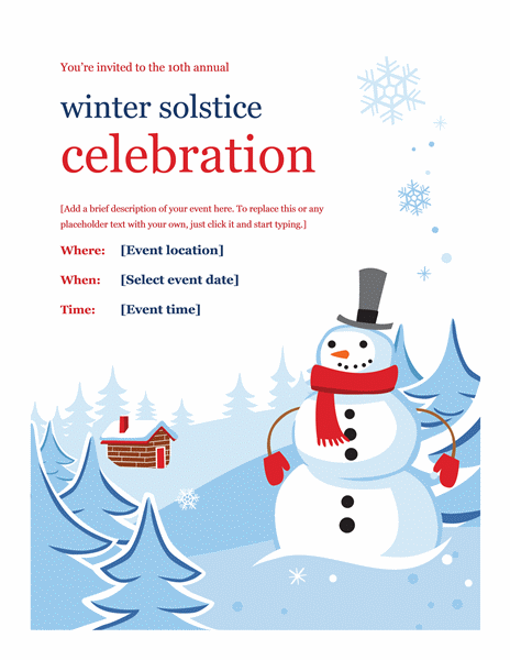 Download Winter Event Party Flyer Design Ideas Examples Free Flyer – Free Party Flyer Templates for Microsoft Word