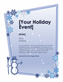 Winter Holiday Event Flyer