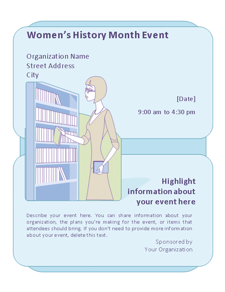 download women u0026 39 s history month event flyer free flyer