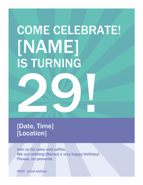Blue Birthday Celebration Poster