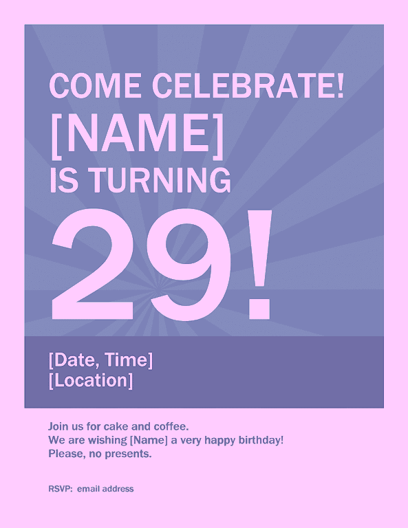 Purple Birthday Celebration Poster