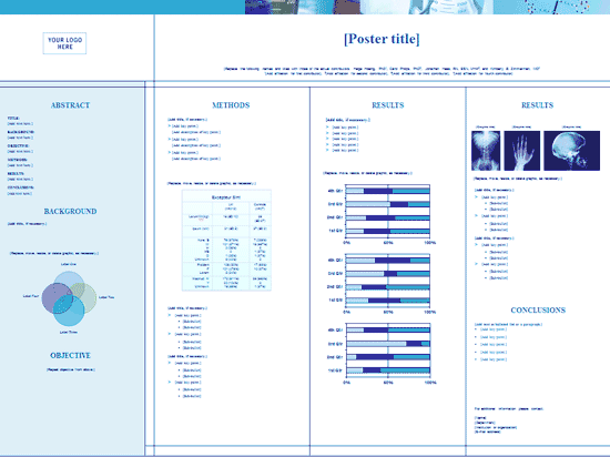 Blue Medical Health Poster With Graphics