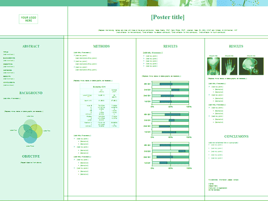 Green Medical Health Poster With Graphics